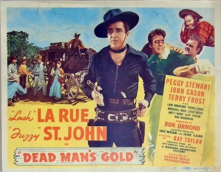 Movie Lobby Poster – LASH LA RUE Dead Man's Gold, 11x14