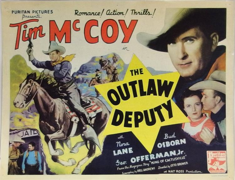 Movie Lobby Poster – TIM McCOY The Outlaw Deputy, 11x14