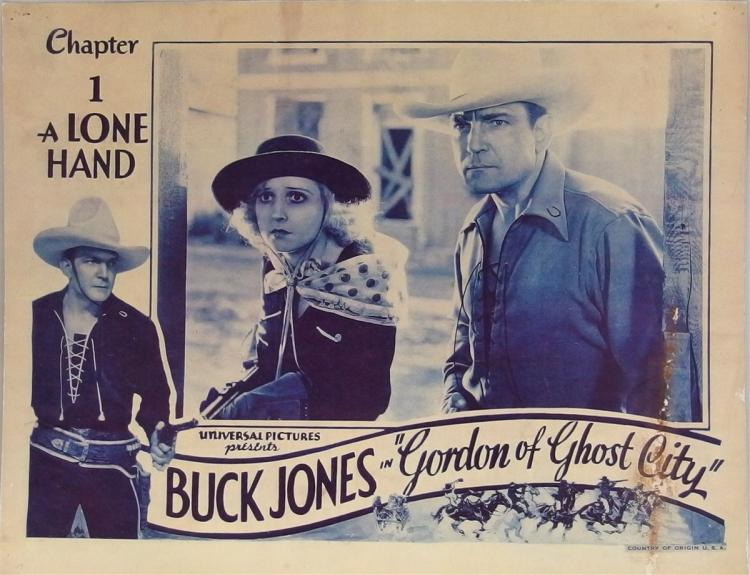 Movie Lobby Poster – BUCK JONES Gordon of Ghost City, 11x14