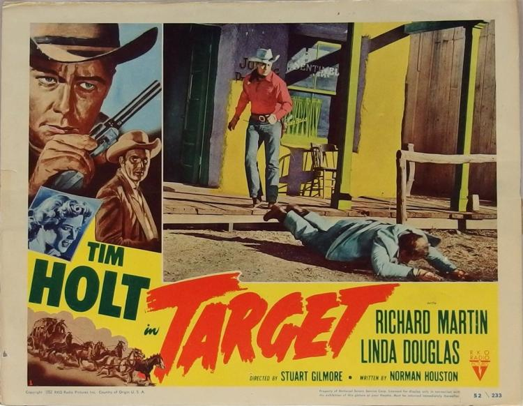 Movie Lobby Poster – TIM HOLT, 1952 Target, 11x14