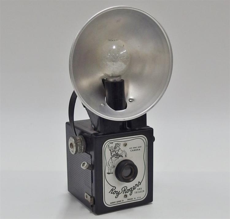 Ca. 1950's ROY ROGERS AND TRIGGER 620 Snap Shot Flash Camera by Herbert George Co.