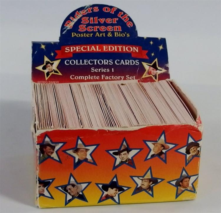 1993 RIDERS OF THE SILVER SCREEN Collectors Cards, Series 1, 300 (not counted) SMKW, TN