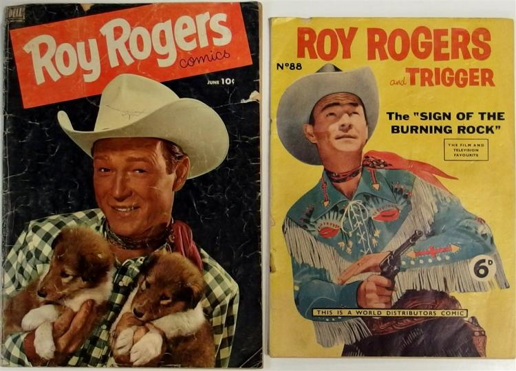 Comic Books – (2) 1952 ROY ROGERS Vol. 1 #54, Dell Western. 1958 ROY ROGERS & TRIGGER 1958 No. 88, World Dist.