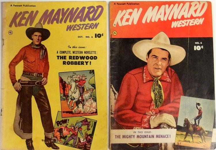 Comic Books – (2) 1951 KEN MAYNARD Vol. 1 #6, Fawcett. 1951 KEN MAYNARD Vol. 2 #8, Fawcett.