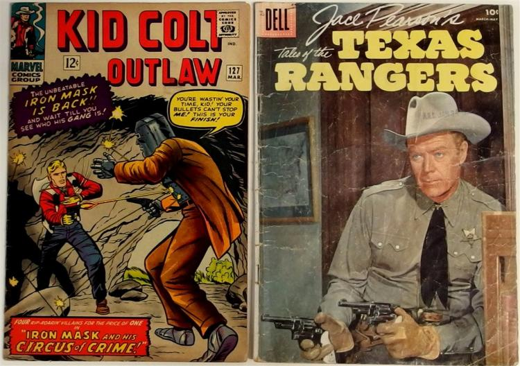 Comic Books – (2) 1956 JACE PEARSON'S TEXAS RANGER #11, Dell. 1965 KID COLT OUTLAW Vol. 2 #127, Marvel.