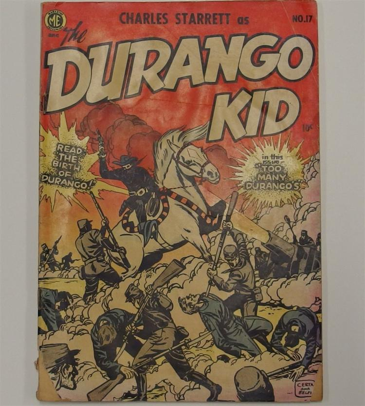 Comic Book - 1952 CHARLES STARRETT as the DURANGO KID Vol 1 #17, Magazine Ent.