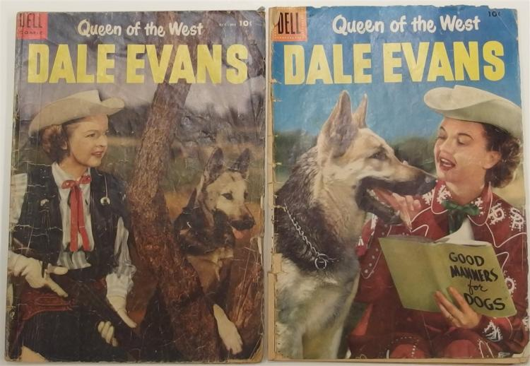 Comic Books – (2)  1954 DALE EVANS Western  #5 and 1956 #11. Dell
