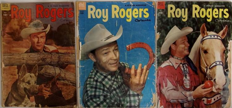 Comic Books - (3)  ROY ROGERS 1954 Vol. 1 # 77,  1954 Vol. 1 #79, 1954 Vol. 1 #80, Dell Western