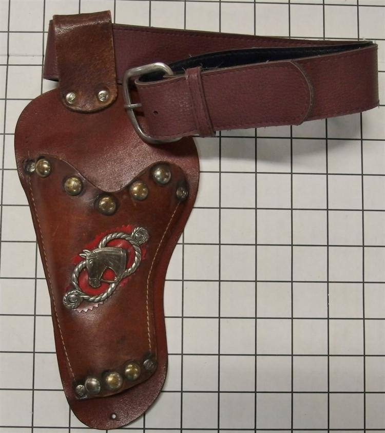 Leather Holster - Brown with Horse Head Medallion