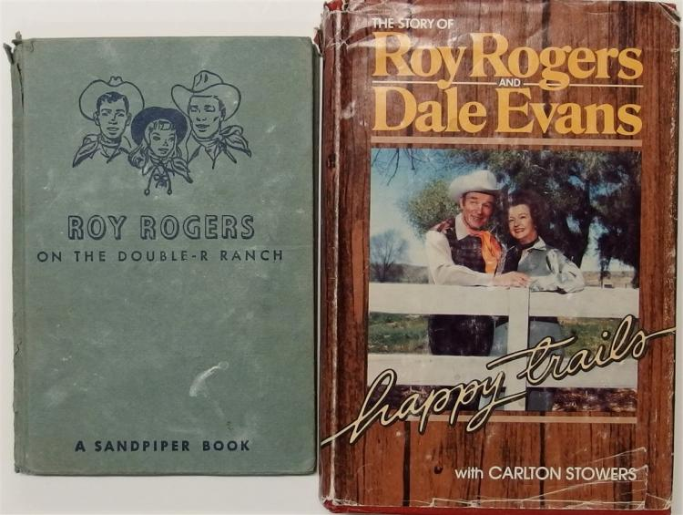 Books - (2) 1951 ROY ROGERS on the Double R Ranch, 1979 Roy Rogers & Dale Evans Happy Trails