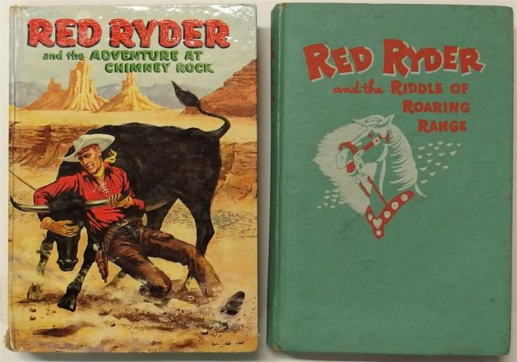 Books - (2) 1946 RED RYDER and the Adventure at Chimney Rock, 1951 RED RYDER and the Riddle of the Roaring Range