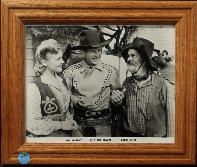 Western Movie Star Photo - ANN JEFFERIES, WILD BILL ELLIOT, GABBY HAYES, 8x10 B&W Glossy