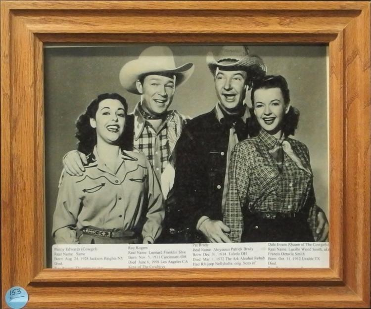 Western Movie Star Photo- PENNY EDWARDS, ROY ROGERS, PAT BRODY, DALE EVANS, 8x10 B&W Glossy