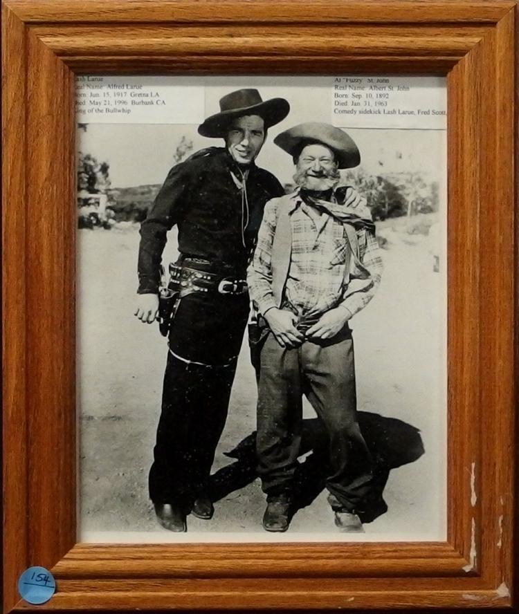 Western Movie Star Photo - LASH LARUE, FUZZY ST. JOHN, 8x10 B&W Glossy