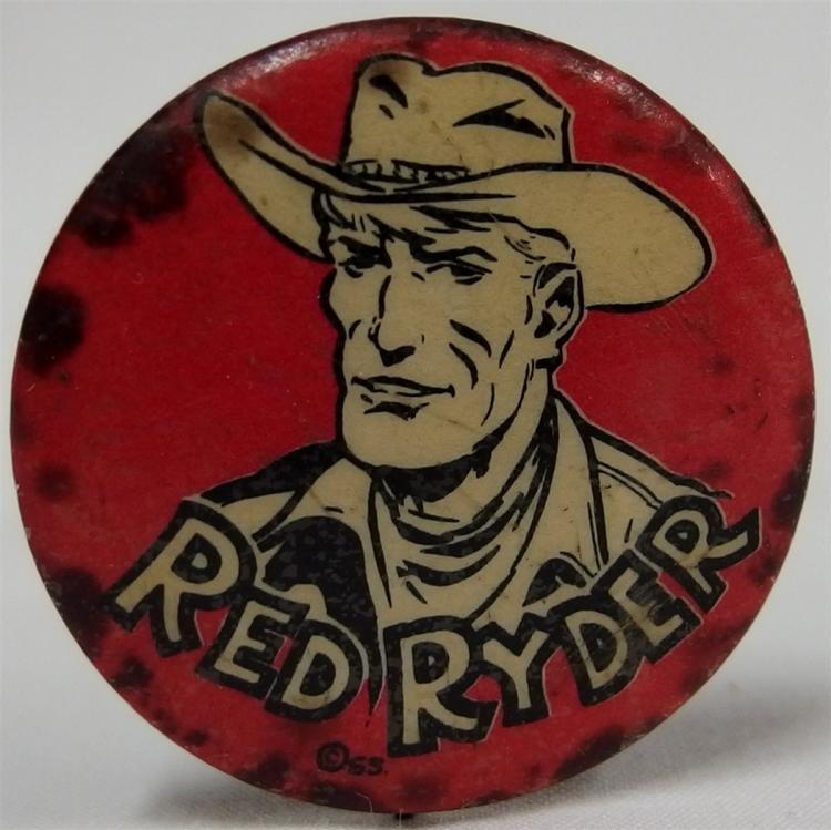 """Pinback - Cowboy RED RYDER, 1-1/4"""""""