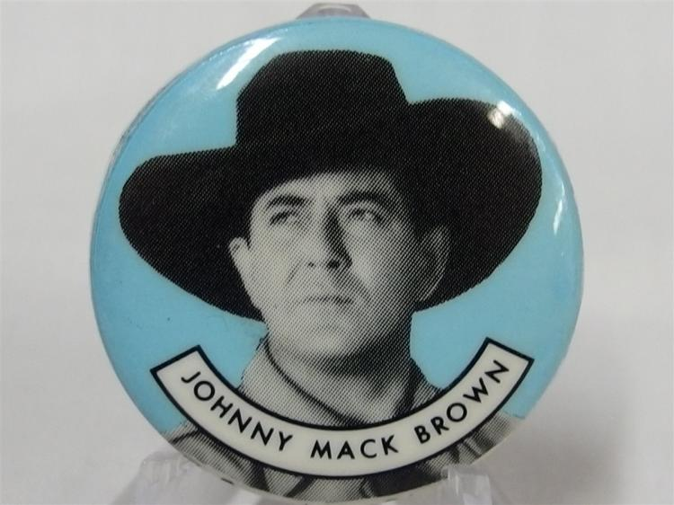 Pinback - Cowboy JOHNNY MACK BROWN, 1-1/4""