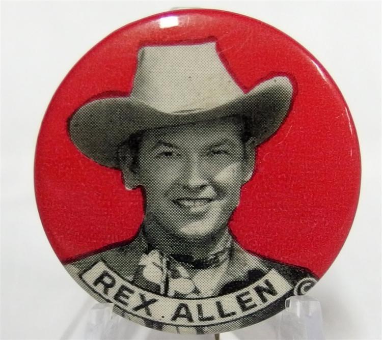 "Pinback - Cowboy HOPALONG CASSIDY & TOPPER, 1-3/4"""