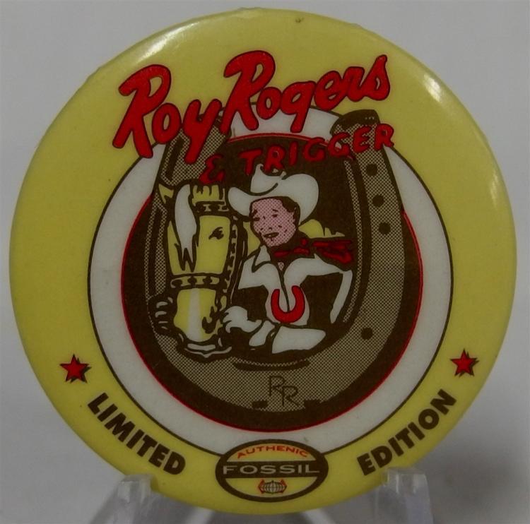 "Pinback - Cowboy REX ALLEN, 1-1/4"""