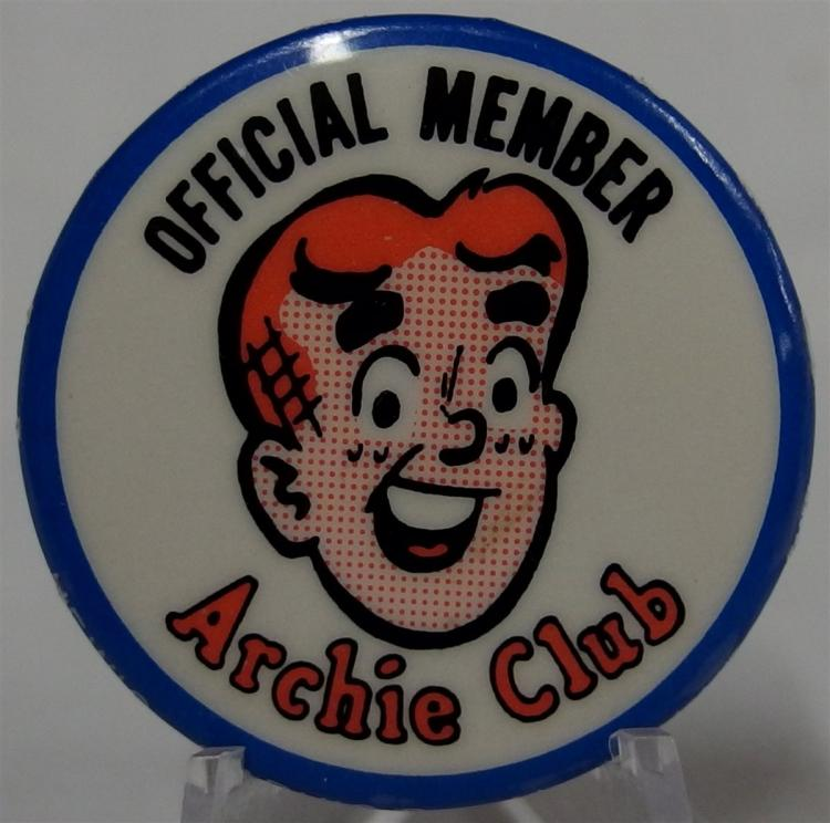 Pinback - Official Member ARCHIE Club, Hewig-Mavic, Brooklyn NY, 1-1/2""