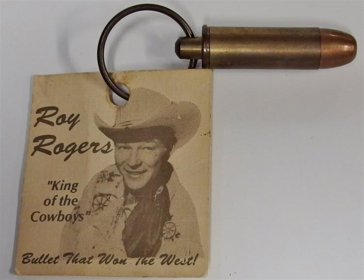 Key Chain - ROY ROGER King of the Cowboys, Bullet that Won the West, Brass 2""