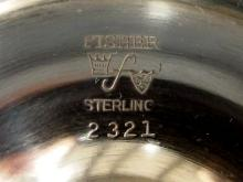 Lot 1: STERLING 4-piece Tea Set by Fisher Silversmiths, Pattern 2321 - NOT Weighted