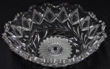 Lot 2: American Brilliant Cut Crystal Oval Center Bowl, 10-3/4D