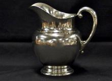 Lot 15: Wallace STERLING Water Pitcher 4750 'Kingston' 4 Pts, 629g, NOT Weighted, 6-1/2H
