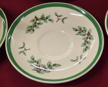 Lot 16: Lot of 6 - Spode England 'Christmas Tree' Cups & Saucers, S3324D