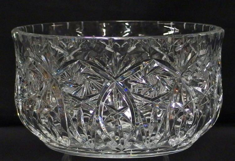 American Brilliant Cut Crystal Center Bowl, 7-3/4D x 4-1/4H