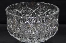 Lot 17: American Brilliant Cut Crystal Center Bowl, 7-3/4D x 4-1/4H