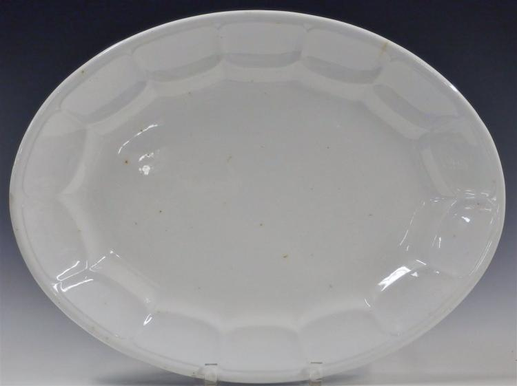 1857 John Alcock Imperial Ironstone Large Oval Platter, Marked 'Paris Shape', 18 x 14