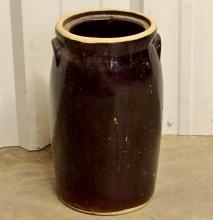 Lot 23: RRRP Roseville OH, Stoneware Butter Churn 16-1/2H