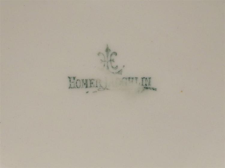 Lot 25: Homer Laughlin Pitcher, 12H & Dresden Bowl 15-1/2D
