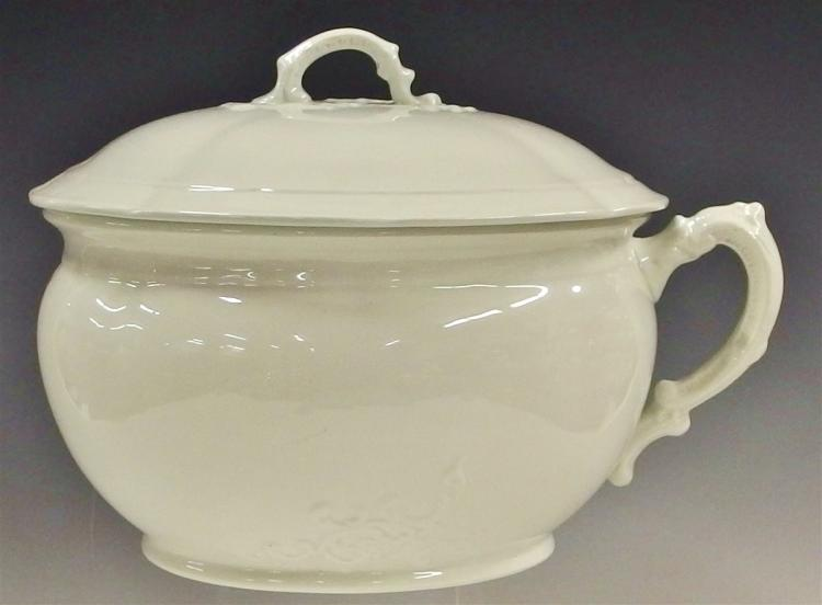Chamber Pot with Lid by Royal Ironstone Alfred Meakin England