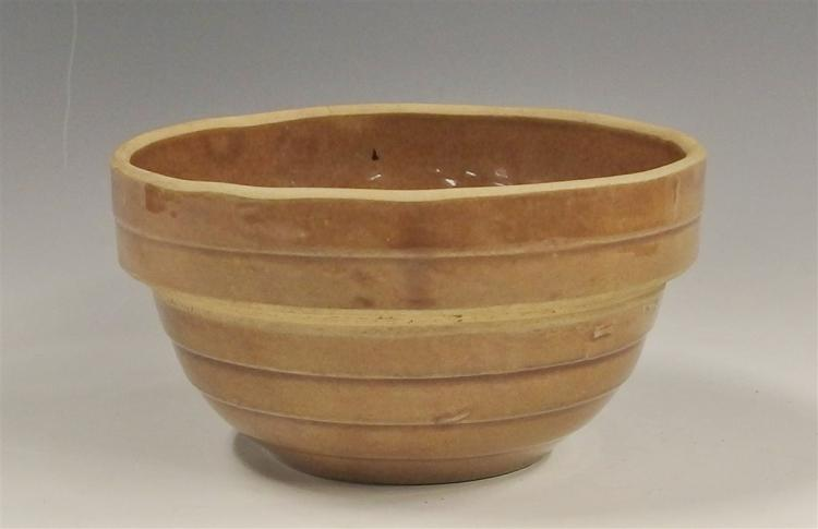 USA Brown Stoneware Bowl, 6D