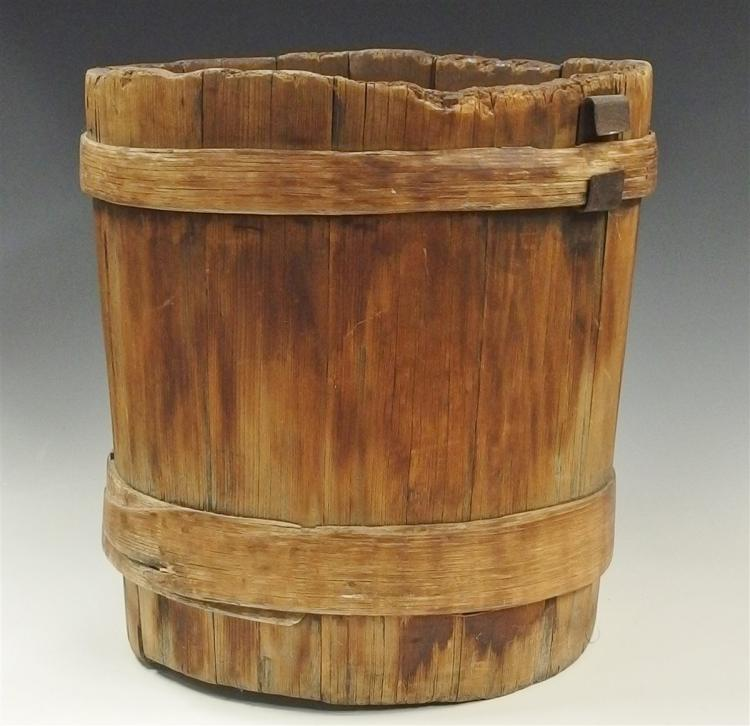 Antique Firkin, 13-1/2H x 13-1/2D