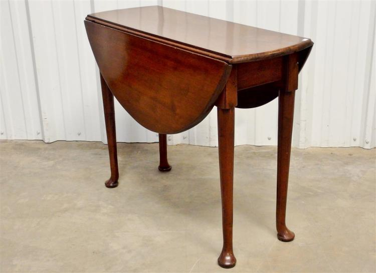 Ca. 1750 George II Oval Drop Leaf Table
