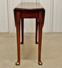 Lot 37: Ca. 1750 George II Oval Drop Leaf Table
