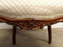 Lot 45: Victorian Rococo Revival Upholstered Walnut Carved Side Chair