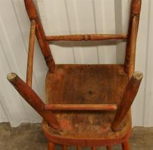 Lot 48: Antique New England Plank Seat Chair