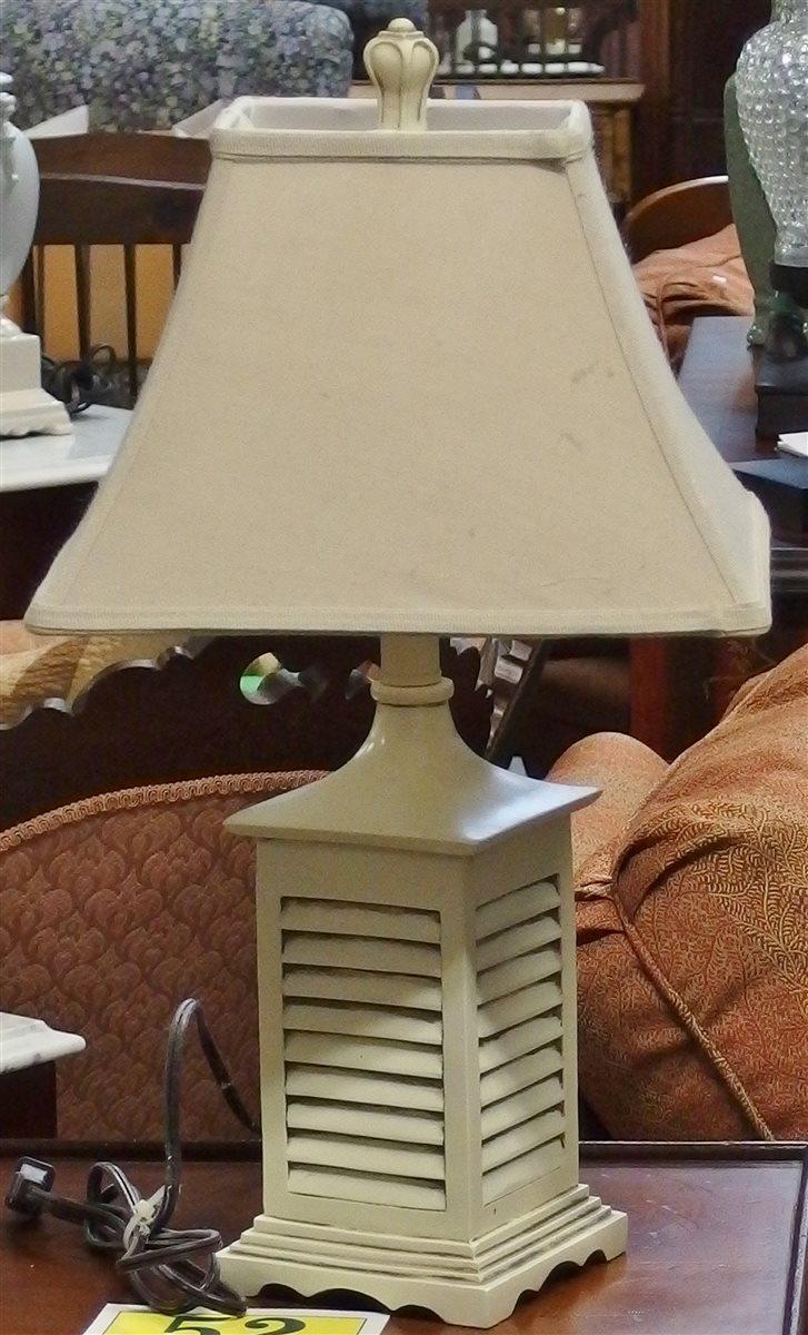 Plantation Shutter Lamp, 22H