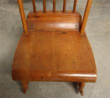 Lot 66: Antique Maple Nursery Rocker