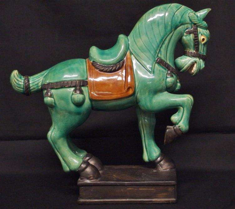 Lot 69: Asian Style Ceramic Horse, 13H