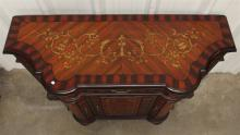 Lot 72: Painted Console with Gold Scroll Accents