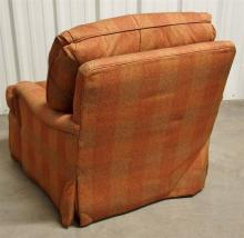 Lot 73: Heirloom Furn. Hickory NC Oversize Swivel Arm Chair