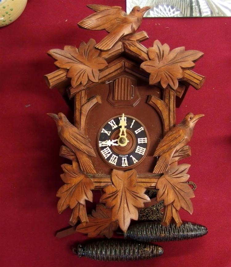 Germany Cuckoo Clock, 3 Birds, 11H