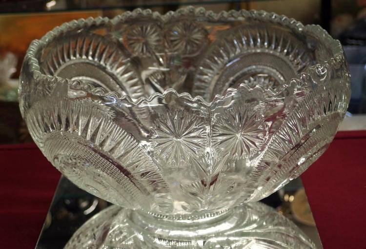 Lot 80: Vintage Slewed Horseshoe Punch Bowl, 8H x 16D