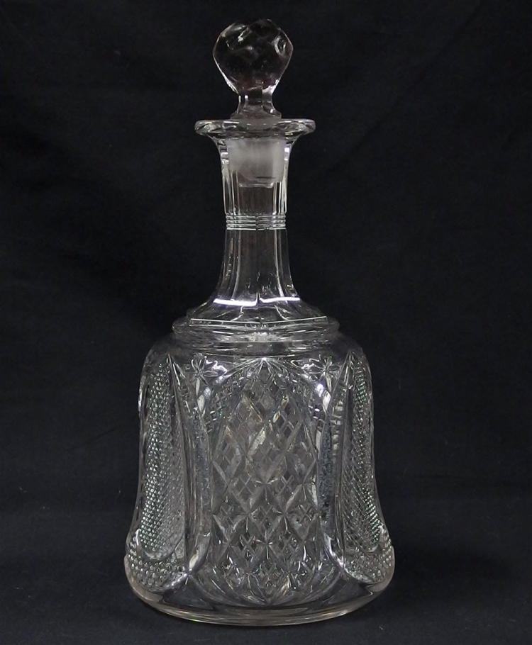 Crystal Bell Decanter, 11H