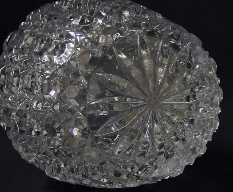 Lot 87: Crystal Baluster Decanter, 11H