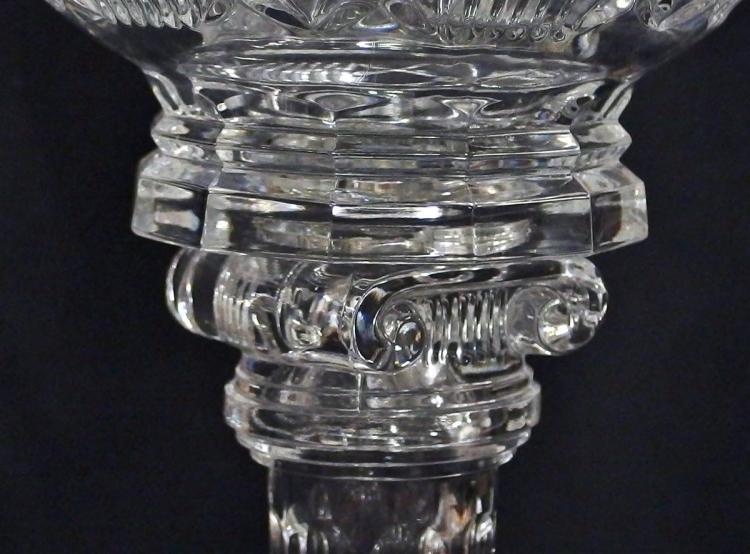 Lot 92: Large Vintage Crystal Compote, 13-1/2H